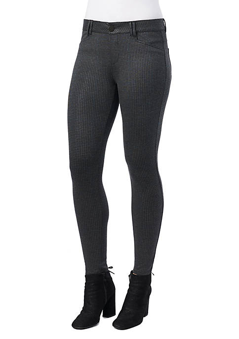 Democracy Womens Absolution Side Zip Houndstooth Ponte Pants