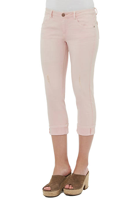 Democracy Flex-ellent Slim Straight Crop Pants