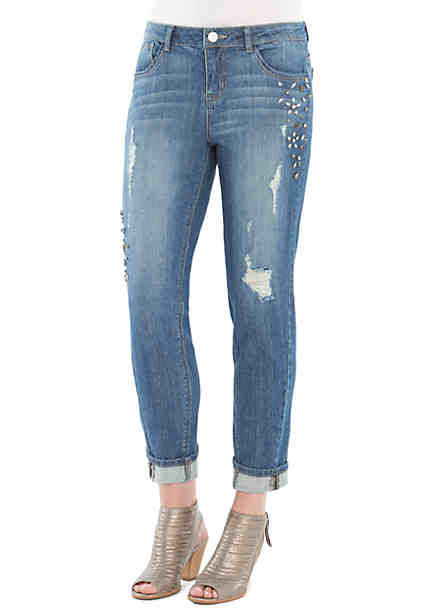 Democracy Skinny Embroidered Jeans ...