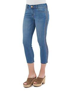 Flex-ellent Embroidery Side Seam Crop Pants
