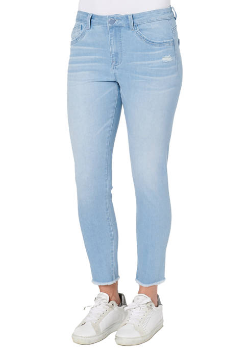 Democracy Womens Absolution High Rise Seamless Ankle Jeans