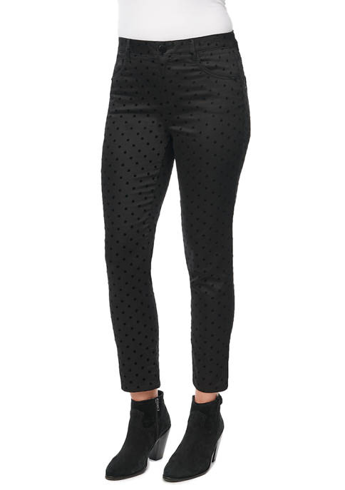 Democracy Womens Absol High Rise Flock Dots Pants
