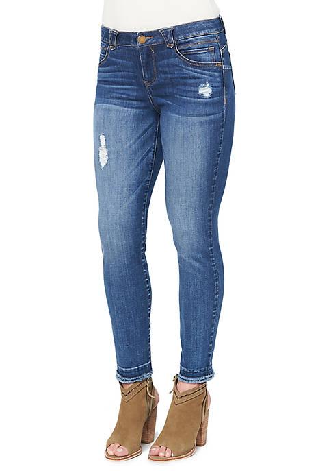 Democracy Double Frey Hem Ankle Skimmer Jeans