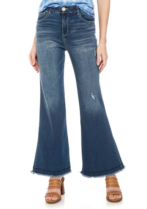 Democracy Womens Absolution High Rise Flare Jeans