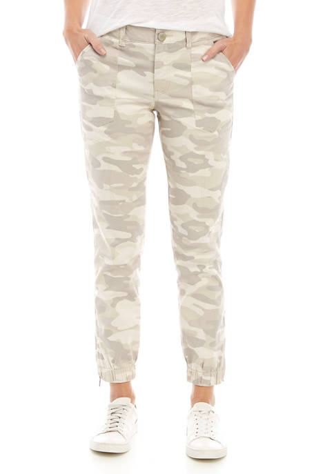 Democracy Womens Absolute High Rise Camouflage Utility Jogger