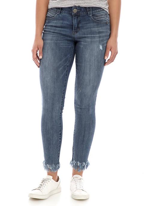 Democracy Womens Chew Hem Ankle Jeans