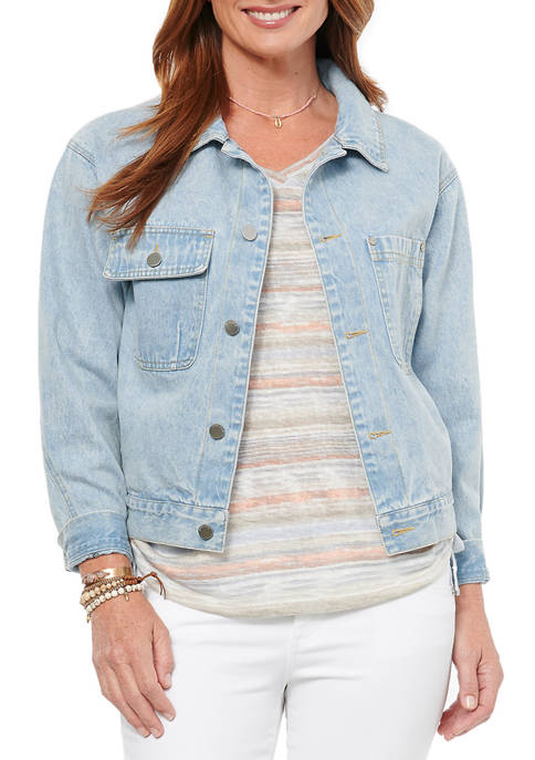 Democracy Womens Denim Trucker Jacket