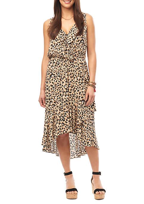 Ruffle Cascade Tank Dress