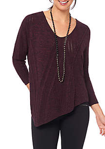 Cable Asymmetrical Sweater