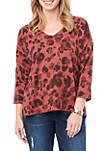 Cutout Back Leopard Sweater
