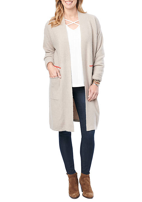 Democracy Womens Long Sleeve Long Cardigan