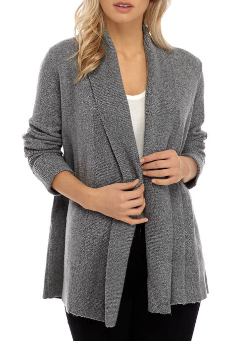 Democracy Womens Cozy Open Front Cardigan