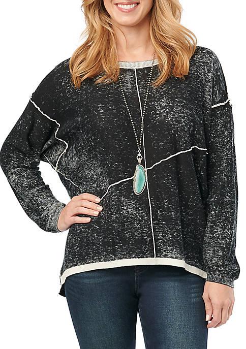 Spliced Pigment Sweater