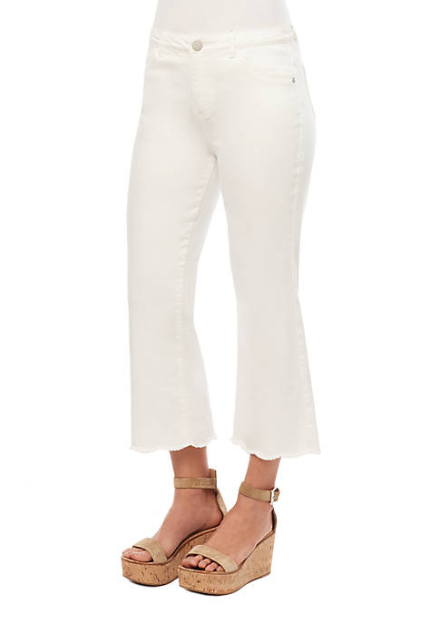 Flexcellent Cropped Flare Scalloped Pants