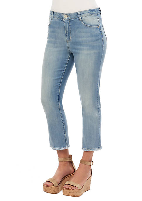 Democracy High Rise Straight Crop Jeans