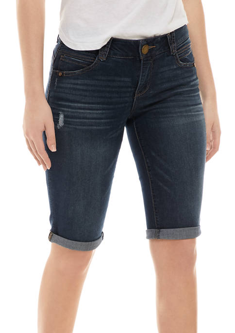Democracy Womens 13 Inch Absolution Destructed Bermuda Shorts