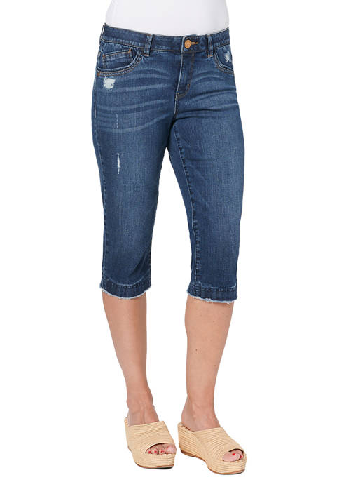 Democracy Womens Absolution 18 Inch Skimmer Jeans