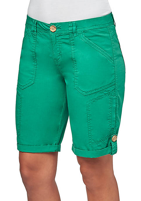 Democracy Poplin Bermuda Shorts