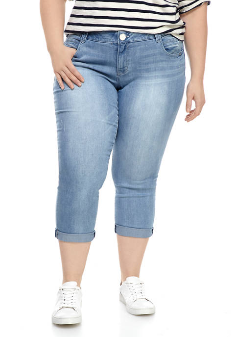 Democracy Plus Size Absolution Ankle Skimmer Jeans