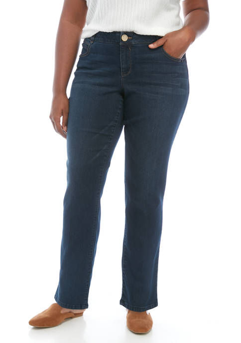 Democracy Plus Size Absolution Straight Jeans