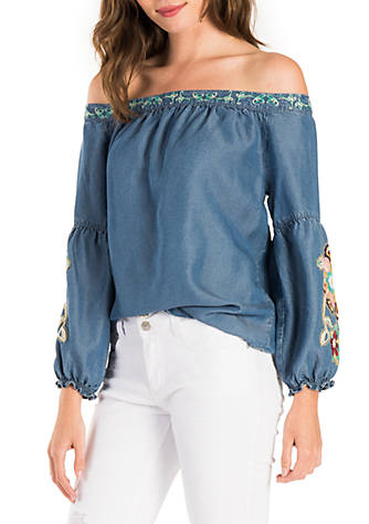 Off-the-Shoulder Embroidered Blouse Banjara Buy Cheap Footlocker Finishline Fast Delivery For Cheap Looking For Sale Online Nice RDcGgQ