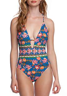 0bad07f40b7 ... nanette NANETTE LEPORE™ Polynesian Floral Goddess One Piece Swimsuit