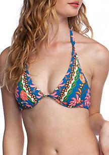 nanette NANETTE LEPORE™ Polynesian Floral Heartbreaker Underwire Swim Bikini Top