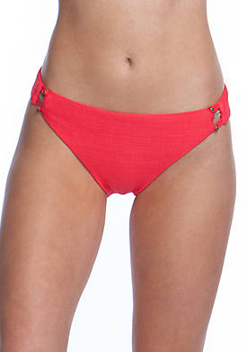 Raffia Texture Charmer Swim Hipster Bottoms