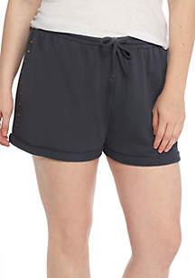 Plus Size Studded Shorts