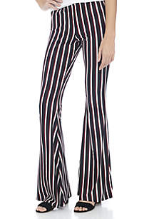 Stripe Knit Flare Pant