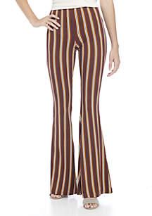 Stripe Knit Flare Pant