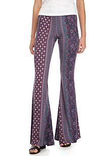Printed Yummy Knit Flare Pants