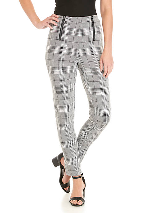 Polly & Esther High Waist Menswear Leggings with