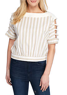 Cut-Out Sleeve Top