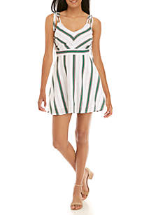 Stripe Fit and Flare Cami Dress