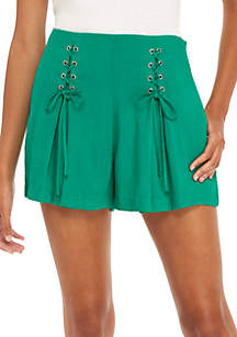 Front Lace-Up Shorts