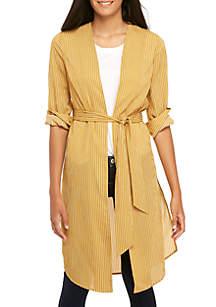Long Sleeve Stripe Kimono