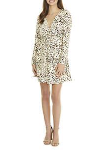 Leopard Tie Front Dress