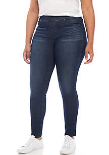 Plus Size Pull-On Skinny Jeans