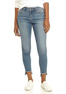 Step Hem Skinny Jeans