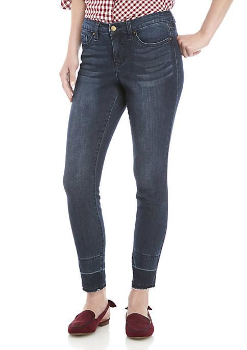 Crown & Ivy™ Step Hem Boot Crop Jeans