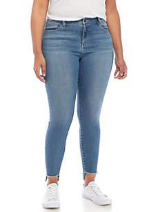 Plus Size Release Hem Skinny Jeans