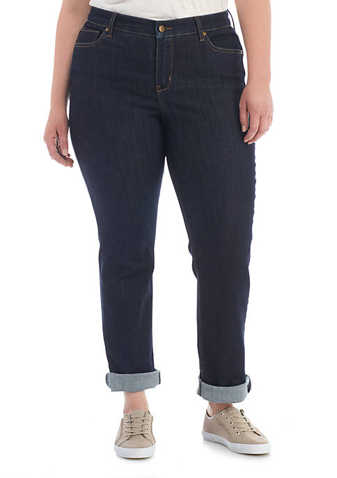 Crown & Ivy™ Plus Size Straight Leg Jeans