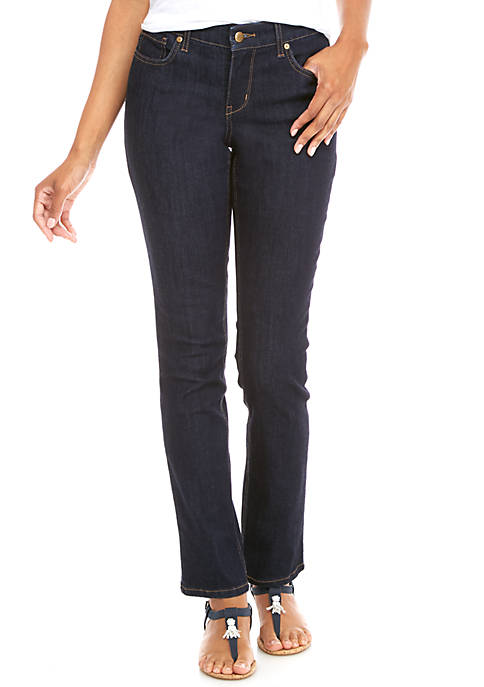 Crown & Ivy™ Petite Straight Leg Jeans