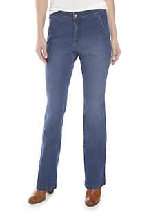 Braided Flare Denim Jeans