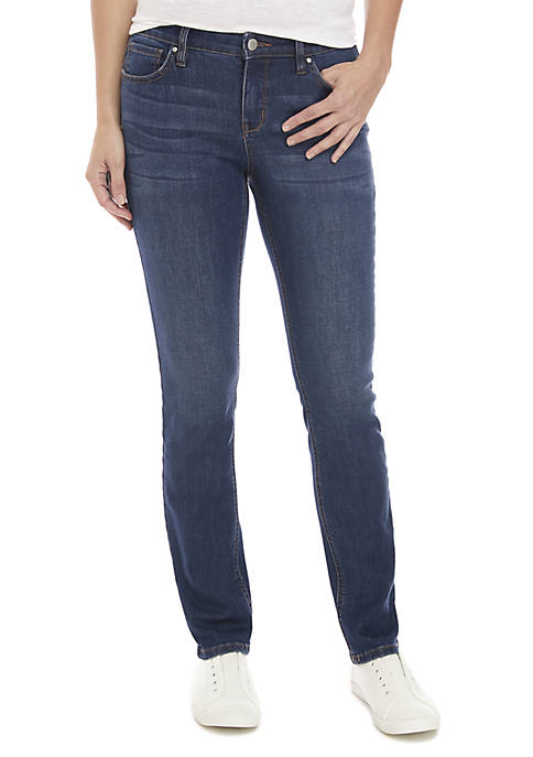 Crown & Ivy™ Short Straight Leg Jeans