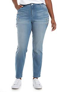Jeweled Girlfriend Jeans