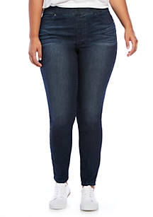 Plus Size Exaggerated Hem Jeans