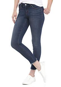 Petite Skinny Tulip Hem Jeans