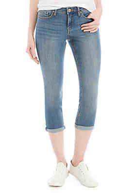383ddd152da Crown & Ivy™ Rolled Cuff Crop Denim Pants ...